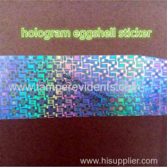 security hologram destructible vinyl