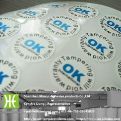 Tamper Evident Desructive Vinyl warranty sticker
