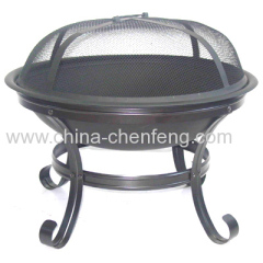light duty black steel fire pit