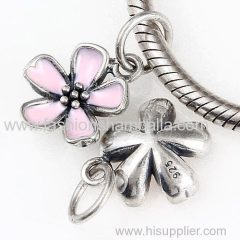 Sterling Silver Pink Cherry Blossom Pendant Wholesale