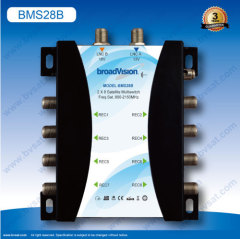 Used for home building and community satellite signal distribution 2input 8output satellite multiswitch