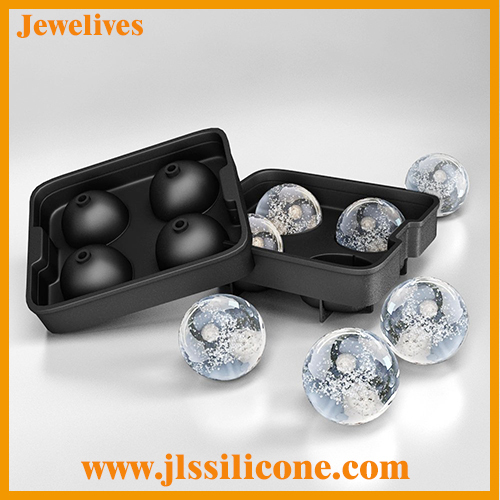 4 cavities Silicone ice ball tray molds by china