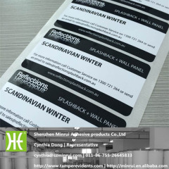 Custom Black and White PET Waterproof Oilproof Glossy Adhesive Company Information Printing Label