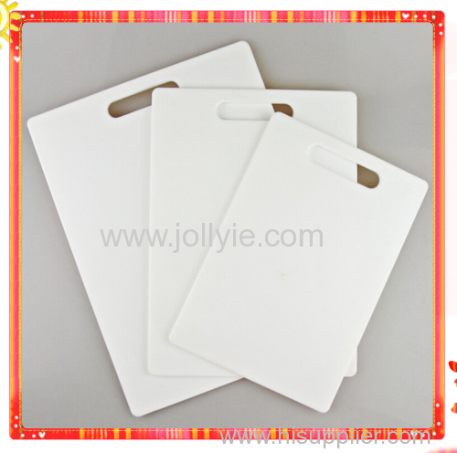 3PCS NONSLIP PP PLASTIC CHOPPING BOARD SET WITH SILICONE PAD