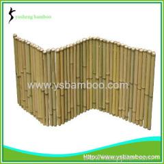 Expandable folding garden bamboo fence