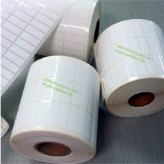 custom blank white roll label stickers