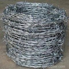 Zinc-plated Barbed Wire made in Anping