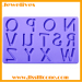 silicone ice mold with letter china