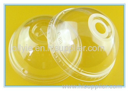 plastic ice cream clear color paper cup lid