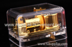 ACRYLIC CLOCKWORK TRANSPARENT MUSICAL BOX GIFTS