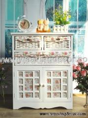 wooden storage cabinet for home decor