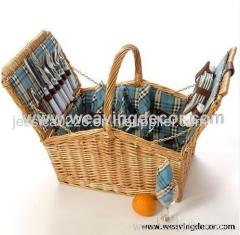 wicker basket picnic basket