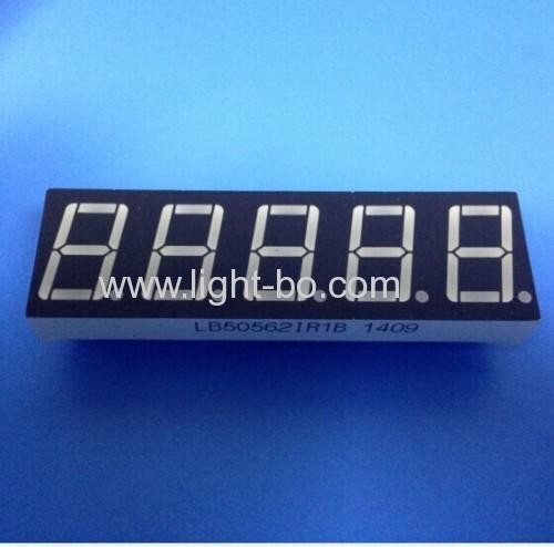 Super Red 5-digit 0.56  7 segment led display for digital indicator
