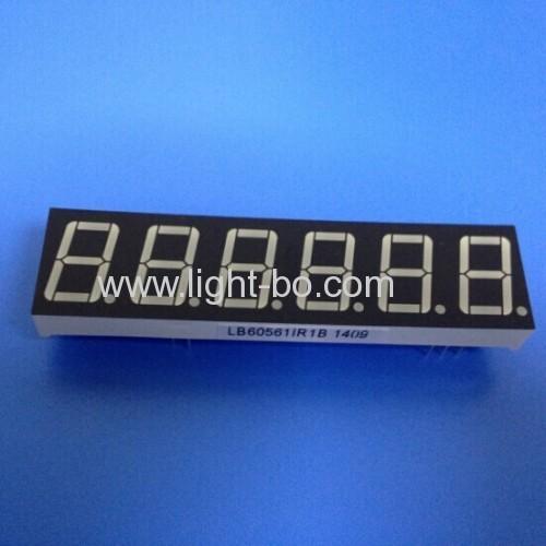 Custom super bright red 6 digit 0.56  7 segmnet led display for digital weighing scale indicator