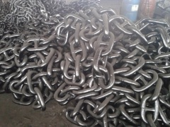 black tarred stud anchor chain