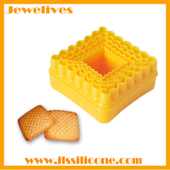 Square shape Plastic 3D bulk cookie cutter