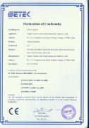 CE certificate for speaker box