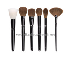 Black copper ferrule face makeup brushes