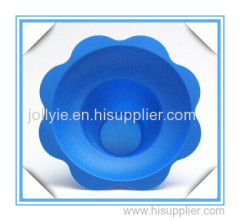 Hawaii shaved ice flower cup blue color manufacture