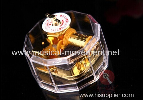 TRANSPARENT POLYGON MUSIC BOX ACRYLIC CASE