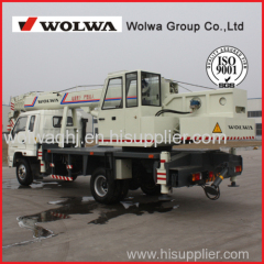 Wolwa 8 ton Hydraulic Mobile Truck Crane for Sale with low price
