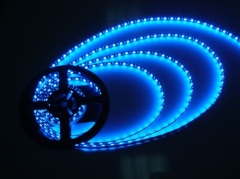 5050 SMD Blue flexible LED strip lights waterproof