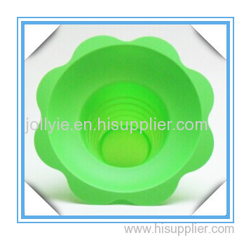 Green color snow-kone flower cup disposable factory