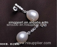 Double Pearl Earrings Double Pearl Earrings
