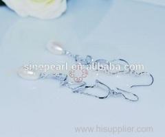 Diamond Pearl Earring Diamond Pearl Earring