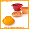 silicone foldable bowl for vegetable or fruit