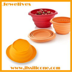 hot collapsible silicone bowl