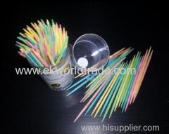100pcs/bottle colorful wood toothpick