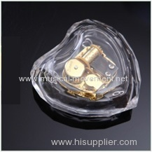 ACRYLIC TRANSPARENT HEART SHAPE MUSIC BOX