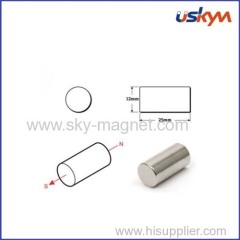 Neodymium bar magnet with nickel coating