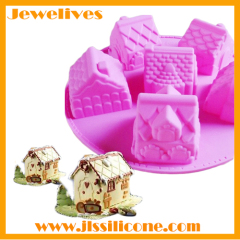 3D house silicone chocolate mold