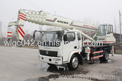 6 ton homemade truck crane with strong chassis