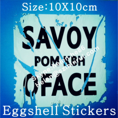 Manufacturer Supply Permanent Adhesive Destructible Vinyl Eggshell Stickers