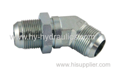 45° elbow JIC male 74° cone/ SAE o-ring boss L-series ISO 11926-3 fittings 1JO4-OG