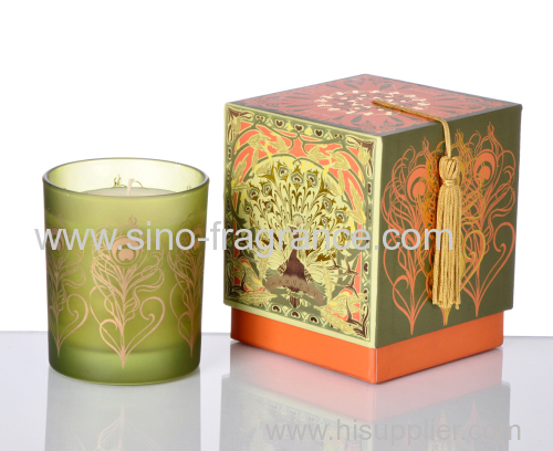 luxury scented soy candle in glass jar
