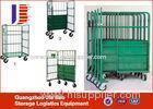 Flexible Warehouse Four Wheel Transport Logistics Trolley Basket Cart