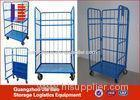 metal movable Warehouse Logistics Trolley Industrial steel wire cart