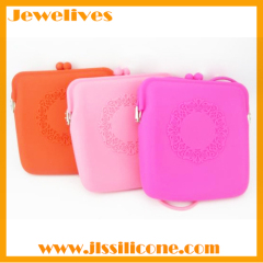 Silicone ladies handbags llace pattern