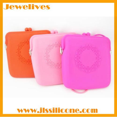 Silicone ladies handbags llace pattern