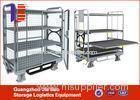 Four wheel Logistics Trolley 4 tier shelving unit For Warehouse / Cargo Cart