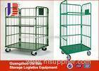 Foldable Industrial Rolling Warehouse Logistics Trolley With 4 Wheel