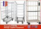 Customized Four Wheel Steel Roller Storage Containers For Industry