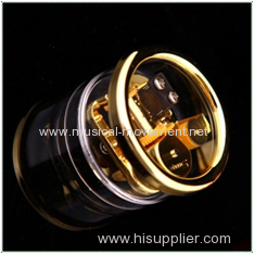 ROUND TRANSPARENT MUSIC BOX 18 NOTE CLASSICAL WIND UP MUSIC BOX MECHANISM