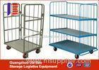 Three Tier Heavy Duty Durable Foldable Logistics Trolley For Supermarkets
