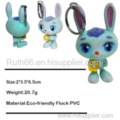 plastic rabbit key chains
