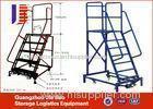 Mobile Safety 4 step Truck Step Ladder Warehouse Storage Handcart